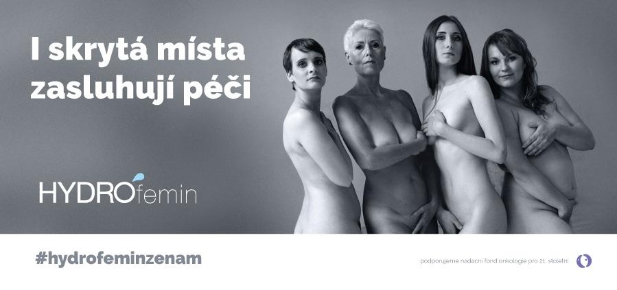Nehledáme krásnou tvář, to je motto kampaně HYDROfemin